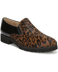 Naturalizer Geraldine Cheetah Print Calf Hair Slip Ons - Brown