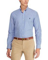 Polo Ralph Lauren - Vertical Stripe Poplin Long-sleeve Woven Shirt - Lyst