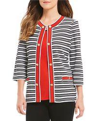 Misook - Jewel Neck Double Button Jacket - Lyst
