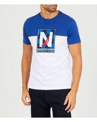 Nautica - Slim Fit Short-sleeve Pieced Active Logo T-shirt - Lyst