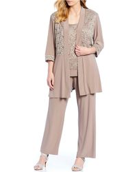 R & M Richards - Plus Size 2-piece Lace Pant Set - Lyst