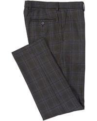 Murano Alex Slim-fit Windowpane Dress Pants - Gray