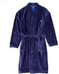 Clothing Accessories Robes Robes Polo Ralph Lauren Velour Terry Kimono Robe Clothing Accessories Kirmizihali Com Tr