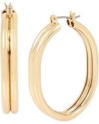 BCBGeneration - Oval Hoop Earrings - Lyst