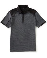 Murano - Slim-fit Pieced Jacquard Short-sleeve Polo Shirt - Lyst