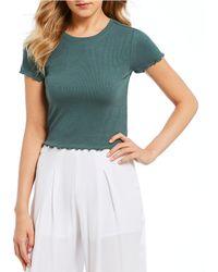 June & Hudson - Short-sleeve Knit Top - Lyst