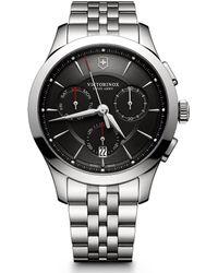 Victorinox - Alliance Chronograph Stainless Steel Bracelet Watch - Lyst