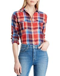 a1095a853b Ralph Lauren Blue Label Superslimfit Striped Shirt in Pink - Lyst