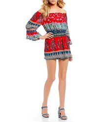 Patrons Of Peace - Fiesta Off The Shoulder Romper - Lyst