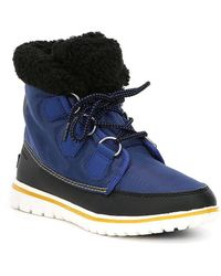 Sorel Cozy Carnival Fleece Lined Waterproof Booties - Black