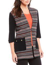 Ming Wang - Modified Mandarin Neck Texture Jacket - Lyst