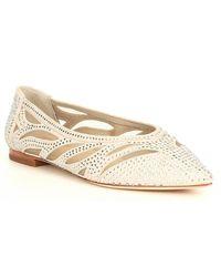 Antonio Melani Nadylie Suede Jewel Embellished Pointy Toe Flats - Multicolor