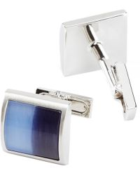 Kenneth Cole Color Block Cuff Links - Blue