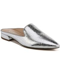 Free Shipping In China Free Shipping Reliable Franco Sarto Samanta 2 Mule(Women's) -Silver Shiny Snake Print Latest Collections Cheap Price Sale Cheapest Cheap Online Shop CdxMqnzT