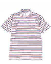 Fairway & Greene Fairway Greene Golf Short-sleeve The Mac Stripe Polo - White