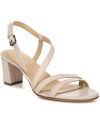 Naturalizer Vanessa Strappy Leather Dress Sandals - Multicolour