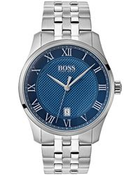 BOSS - The Boss Watches Master Collection Stainless Steel Watch - Lyst