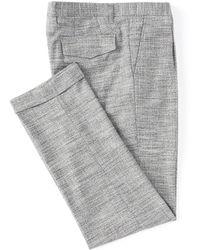 Murano Alex Slim-fit Pleated Plaid Suit Separates Dress Pants - Gray