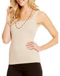Ruby Rd. - Square-neck Sleeveless Knit Tank - Lyst