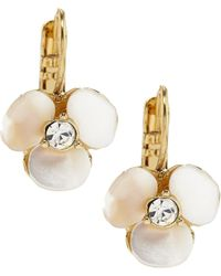 Kate Spade - Disco Pansy Drop Mother-of-pearl Earrings - Lyst