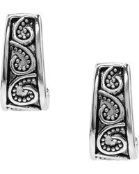 Dillard's - Tailored Antique Scroll Pattern J-hoop Earrings - Lyst