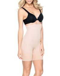 Spanx - Plus New & Slimproved! Slim Cognito High-waisted Mid-thigh Shaper - Lyst
