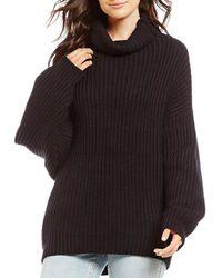 Free People Swim Too Deep Pullover Sweater - Black