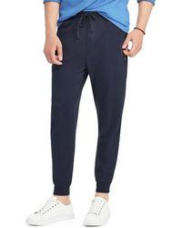 Polo Ralph Lauren - Luxury Jersey Pants (aviator Navy) Casual Pants - Lyst