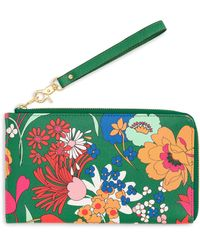 Ban.do Floral Small Travel Wallet - Green