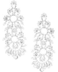Cezanne - Floral Statement Earrings - Lyst