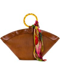 Patricia Nash Twisted Woven Top Ring Handle Madnia Dome Tote