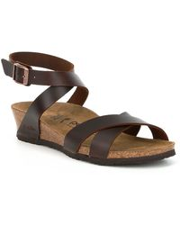 7929ab3859d Birkenstock - Lola Ankle Wrap Strap Wedge Sandals - Lyst
