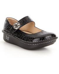 Paloma Floral-Embossed Leather Mary Jane Clogs NzHo2wj