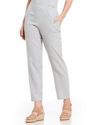 Eileen Fisher - Stripe Tapered Ankle Pants - Lyst