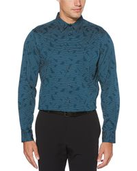 Perry Ellis - Big & Tall Abstract Line Stretch Long-sleeve Woven Shirt - Lyst
