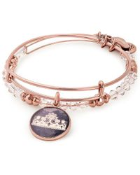 ALEX AND ANI - Queen's Crown Art Infusion Set Charm Bangle - Lyst