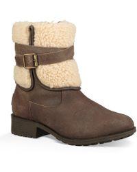 UGG - ® Blayre Iii Waterproof Leather Block Heel Boots - Lyst
