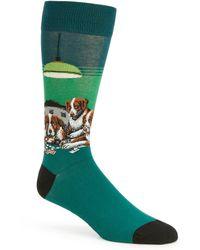 Hot Sox Novelty Poker Game Crew Socks - Green