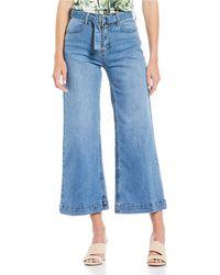 Gianni Bini Phoebe Wide Leg Cropped Jean - Blue