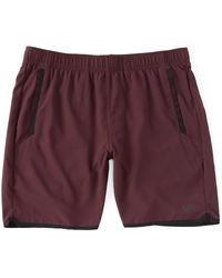 RVCA Yogger Lv Elastic Pull-on 17 Outseam Solid Athletic Shorts - Purple