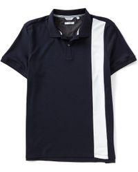 Calvin Klein - Slim-fit Color Block Stripe Short-sleeve Polo Shirt - Lyst