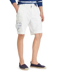 Polo Ralph Lauren Relaxed-fit 10 12 Inseam Cargo Shorts - White