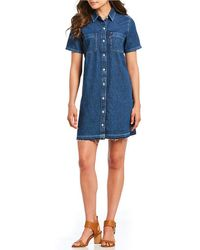 Levi's - Andie Short Sleeve Button Front Denim Dress - Lyst