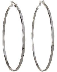 BCBGeneration - Bcbg Textured Large Hoop Earrings - Lyst