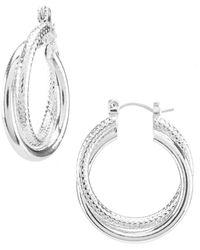 Dillard's - Twist Hoop Earrings - Lyst