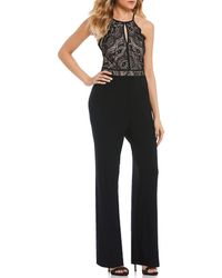 As U Wish - Two-tone Lace Bodice Jumpsuit - Lyst