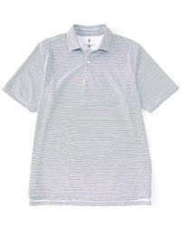 Fairway & Greene Fairway Greene Golf Short-sleeve Tilden Stripe Polo - White