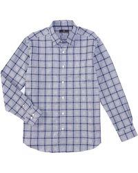 Hart Schaffner Marx - Long Sleeve Large Check Sportshirt - Lyst