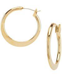 Dillard's - Tailored Graduated Hoop Earrings - Lyst