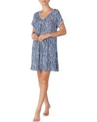 Donna Karan - Abstract-dot Sleepshirt - Lyst